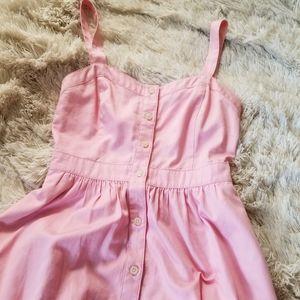Madewell pink button up sundress 00